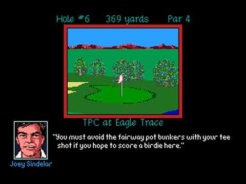 PGA Tour Golf (Honda Classic at TPC Eagle Trace) (Sterling Silver) (MS-DOS) [1991] [PC Longplay]