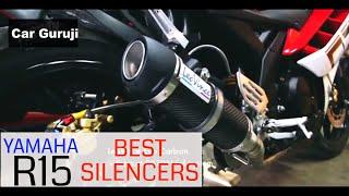 YAMAHA R15 BEST SILENCERS | Must Watch | Car Guruji