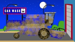 Combine Harvester in Car Wash   Kombajn w Auto Myjni Samochodowej