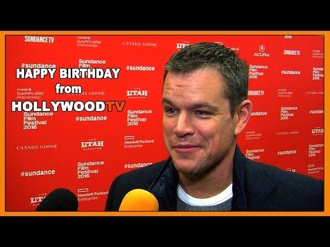 Happy 46th Birthday Matt Damon - Hollywood TV