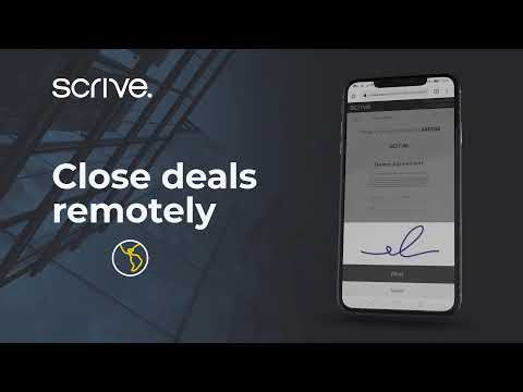 Sign faster online with Scrive e-Sign
