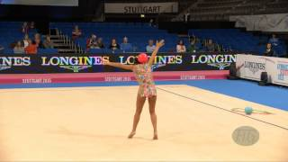 Varvara FILIOU (GRE) 2015 Rhythmic Worlds Stuttgart - Qualifications Ball
