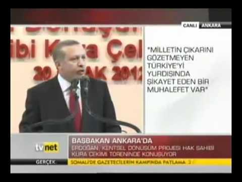 Başbakan Erdoğan. Kuzey Ankara Girişi Kentsel Dönüşüm Projesi.