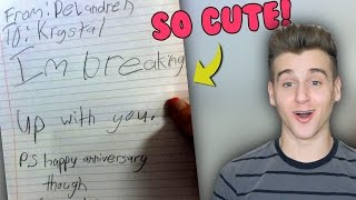 Funniest And Cutest Kid Break Up Notes!