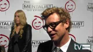 Simon Baker at The Mentalist Season 5 100th Episode Party width=