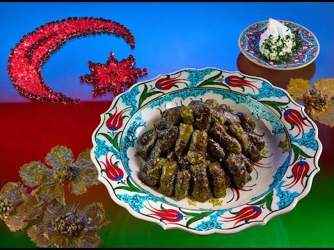 Азербайджанская долма в виноградных листьях + вариация Сталика Ханкишиева с орехами, без мяса!
