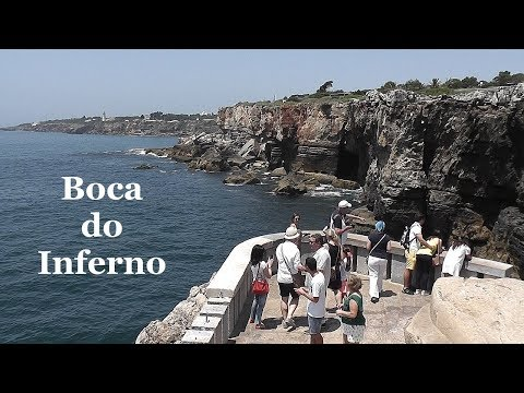 PORTUGAL: Boca do Inferno - cliff formation at Cascais [HD]