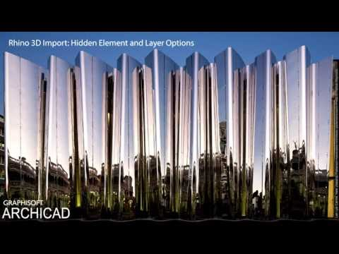 ARCHICAD 20 - Rhino 3D Import - Hidden Element and Layer Options
