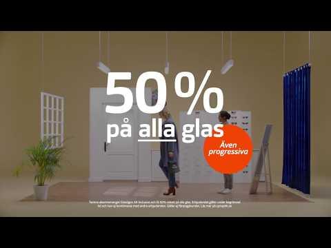 50% på alla glas