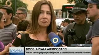 Artistas repudian asesinato de Arnaldo Albornoz