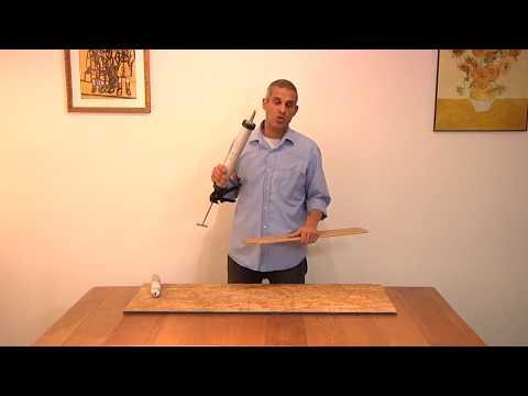 הדבקת פרקט עץ ישירות לרצפה