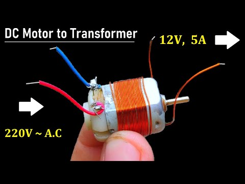 12V 5A DC Supply from 220V AC using DC Motor as Transformer - NEW IDEA