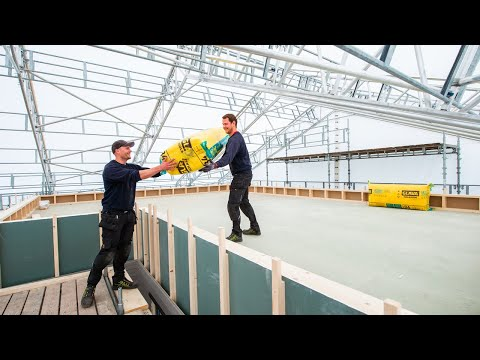 Bygger funkis under tak på Stange
