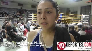Miriam Ivonne Arias Nava abogada y boxeadora