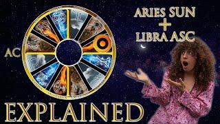 ☉ Sun in Aries + Libra Asc (rising sign) HD width=