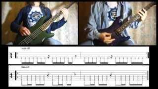 2) Rammstein - Sonne (Bass & Guitar lesson + TAB | Cover HD)