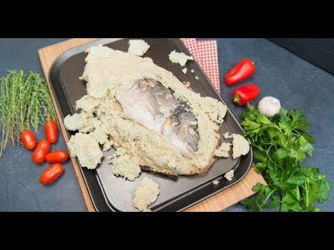 Горящая рыба в солевом тесте | Кухня по заявкам