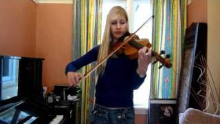 Lara plays the Metal Gear Solid 2 theme on violin