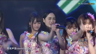 SNH48 TeamSII/HII 16th Top Chinese Music 『真夏のSounds good!』 in 深セン 20160409