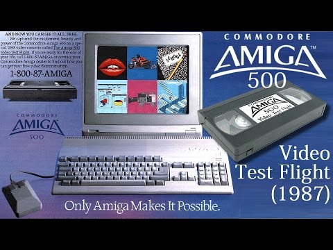 Commodore Amiga 500 Video Test Flight (1987) - Promo Video