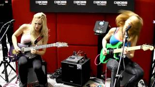 Iron Maidens Guitar Duo at NAMM 2012 Aces High