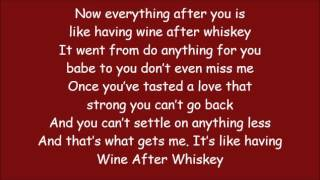 Carrie Underwood ~ Wine After Whiskey (Lyrics)