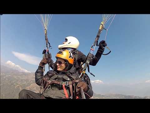 Paragliding in Sarangkot, Pokhara  2013