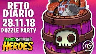 Fiesta de Puzzles (28/11/18) | PvZ Heroes | Reto Diario