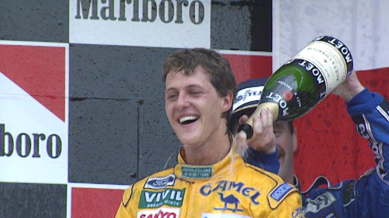 Michael Schumacher Scores First F1 Podium | 1992 Mexican Grand Prix