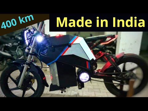 400 KM Range Electric Motorcycle Made in India - Motion Breeze