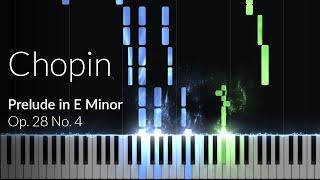 Prelude in E-Minor (op. 28 No. 4) - Frederic Chopin [Piano Tutorial] (Synthesia)
