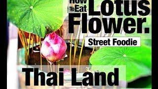 How To Eat Heart of Lotus Flower, Foodie Adventure