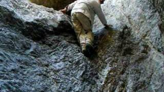 Helmut Down-Climing Grotto Canyon