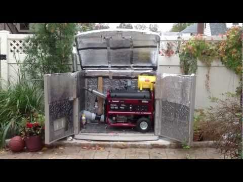 Dig How To Build A Soundproof Generator Shed
