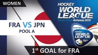 Elysee Lecas knocks in a goal for the French from close range FRA 1-6 JPN