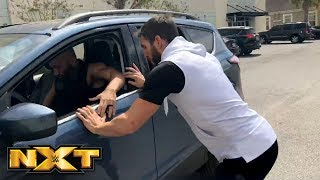 Johnny Gargano tries to chase down Tommaso Ciampa in the WWE PC parking lot: March 24, 2018