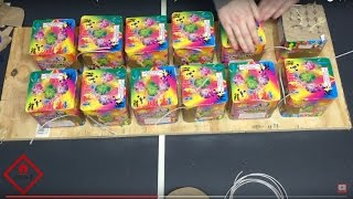 12 Firework Cakes - Fast Fused (300 Shots in 30 Seconds!)