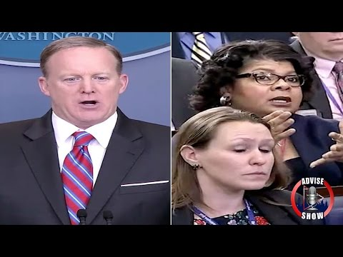 "Sean Spicer Berates April Ryan ""Stop Shaking Your Head Again"""