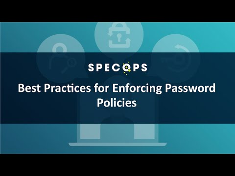 [Redmond/Specops webcast]: 5 Best Practices for Enforcing Password Policies