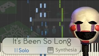 It's Been So Long - |SOLO PIANO TUTORIAL w/LYRICS| - The Living Tombstone -- Synthesia HD