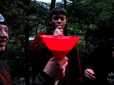 Beer bong in Alaska