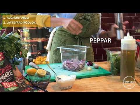 Inspireras med Vårt Kök:  Felix veggie burgare