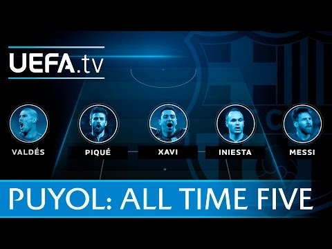 Puyol's all-time Barcelona all-time five-a-side team