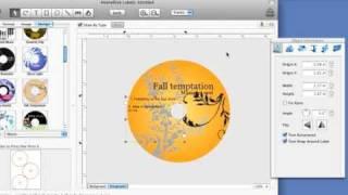 Mac CD DVD Label Maker. How to make mac cd/dvd disc labels easily.