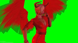 sexy hot devil halloween specials  winged  3D ANIMATION 1080p s01r01 green screen