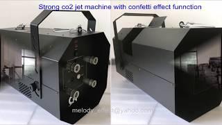 strong co2 jet with confetti effect machine / co2 confetti cannon
