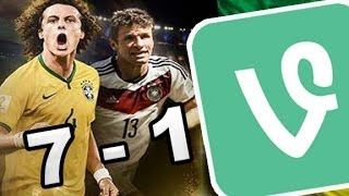 Vines Brasil vs Alemania -  Mundial Brasil 2014