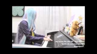 No Game No Life - This Game Piano Cover (Shiro Cosplay)
