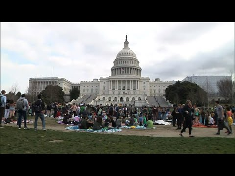 Omar joins students to call for climate action
