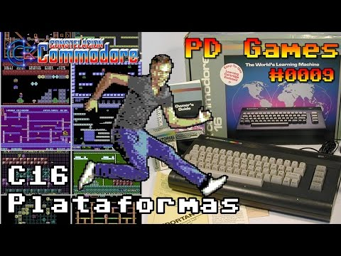 PD Games #0009: 10 juegos de plataformas en Commodore 16